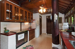 Traditional, antique style kitchen Stock Photo