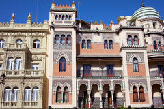 Traditional Apartment Houses in Seville Royalty Free Stock Photos