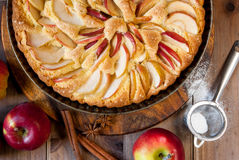Traditional apple pie Stock Photos