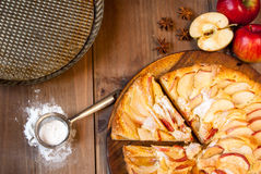 Traditional apple pie Stock Image