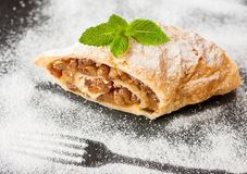 Traditional apple strudel Stock Photos