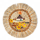 Traditional applique. Ukrainian straw amulet stock images