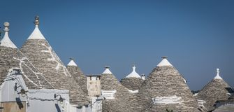 Traditional Apulian Trulli in the town of Alberobello Italy. June 2017. royalty free stock image