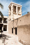 Traditional Arab house with wind tower Stock Image