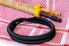Traditional Arab Male Clothes - kaffiyah, igal, and hookah craft wooden accessories