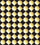 Traditional Arab pattern gold on black background. Vector illustration. Traditional Arab pattern gold on black background Stock Photo