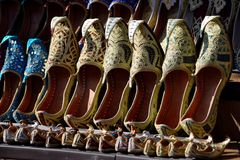 Traditional arab shoes Stock Images