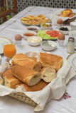 The traditional arabian breakfast mixed with western food Stock Photo