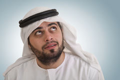 Traditional arabian businessman thinking Stock Photos