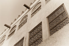 Traditional arabian house exterior Royalty Free Stock Photography