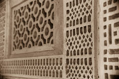 Traditional arabian house lattice detail Royalty Free Stock Images