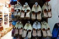 Traditional Arabian Shoes Royalty Free Stock Photography