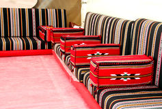 Traditional Arabian style seating arrangement Stock Photography