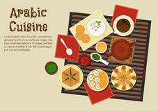 Traditional arabian and turkish cuisine Stock Photography