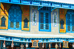 Traditional Arabic architecture in El-Jem, Tunisia Royalty Free Stock Photos