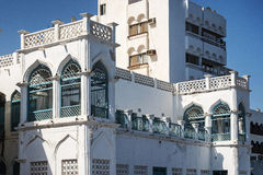 Traditional arabic architecture in muscat old town oman Royalty Free Stock Images
