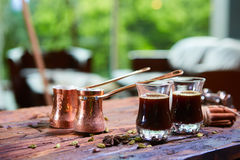 Traditional Arabic coffee Stock Photography