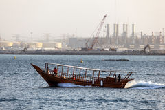Traditional arabic dhow in Dubai Royalty Free Stock Images
