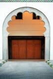 Traditional Arabic door in Abu Dhabi, United Arab Emirates Stock Image