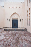 Traditional Arabic entry door in Doha, Qatar. Royalty Free Stock Photos