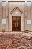 Traditional Arabic entry door in Doha, Qatar. Stock Photo