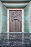 Traditional Arabic entry door in Doha, Qatar. Stock Photography