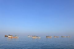 Traditional Arabic fishing boat Stock Photos