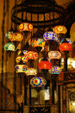 Traditional arabic glass and metal lanterns. Stock Photography