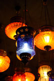 Traditional arabic lanterns on the market.  Royalty Free Stock Photos