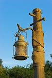Traditional Arabic metal streetlight Stock Photo