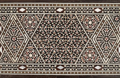 Traditional arabic mosaic. Old wooden traditional Arabic mosaic Stock Photo