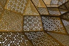 Modern arabic motives. Traditional Arabic motives on modern design steel plates Stock Photography