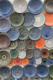 Traditional Arabic painted plates Stock Photography