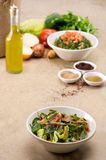 Traditional Arabic salad fattouch and tabbouleh Royalty Free Stock Images