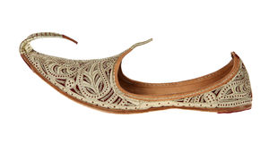 Traditional Arabic shoes. Over white background Stock Photo
