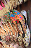 Traditional Arabic shoes. For sale in Dubai Royalty Free Stock Photo