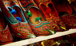 Traditional Arabic shoes. At Arab street in Singapore Royalty Free Stock Photo