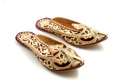 Traditional arabic slippers Royalty Free Stock Photos