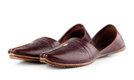 Traditional Arabic slippers. Shot against a white background Stock Image