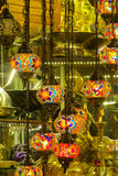 Traditional arabic style culorful lanterns at Grand Bazar market in Istanbul. Arabic style culorful lanterns at Grand Bazar market in Istanbul Royalty Free Stock Images