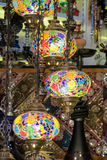 Traditional arabic style culorful lanterns at night market. Traditional arabic style culorful lanterns at Grand Bazar market in Istanbul Royalty Free Stock Images
