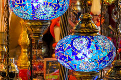 Traditional arabic style culorful lanterns at night market. Traditional arabic style culorful lanterns at Grand Bazar market in Istanbul Stock Photo