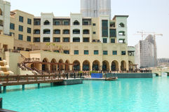 Traditional arabic style hotel in Dubai downtown Stock Image