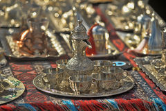 Traditional Arabic tableware Stock Images