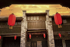 Traditional arcaded building,flok house. In Huaiyuan ancient town  Yizhou,Guangxi Province Stock Photo