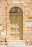 Traditional arch door in Mdina Royalty Free Stock Image