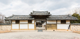 Traditional arched entrance of ancient korea. Stock Photo