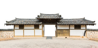 Traditional arched entrance of ancient korea building. Stock Images
