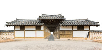 Traditional arched entrance of ancient korea building. Royalty Free Stock Photos