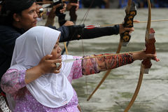 Traditional archery Royalty Free Stock Photo